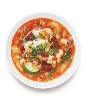 Smoky Bass, Fennel, and Chorizo Soup | RealSimple.com