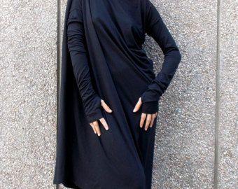 4ae5a205fd8e Black Red Maxi Dress   Black Red Kaftan   Long Sleeve Maxi Dress ...