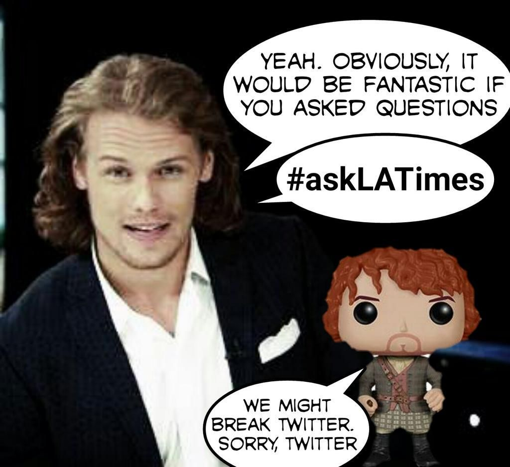 Plz RT: @latimes Emmy Contender livestream chat .@SamHeughan 6/22 10:30 am PThttp://www.latimes.com/entertainment/envelope/emmys/la-et-st-emmy-chat-outlander-sam-heughan-monday-20150619-story.html … #Outlander pic.twitter.com/i1BxiHbR4P