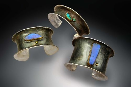Flair opal cuffs