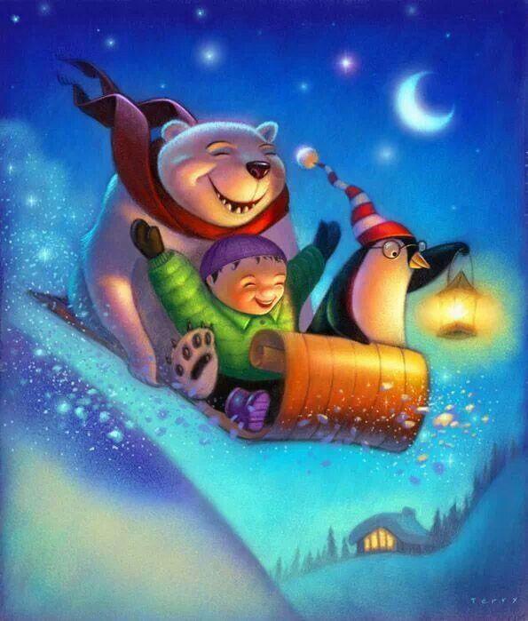 night sledding!!!