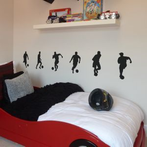 FOOTBALLER WALL STICKERS PACK OF 6 | food places | Pinterest ...