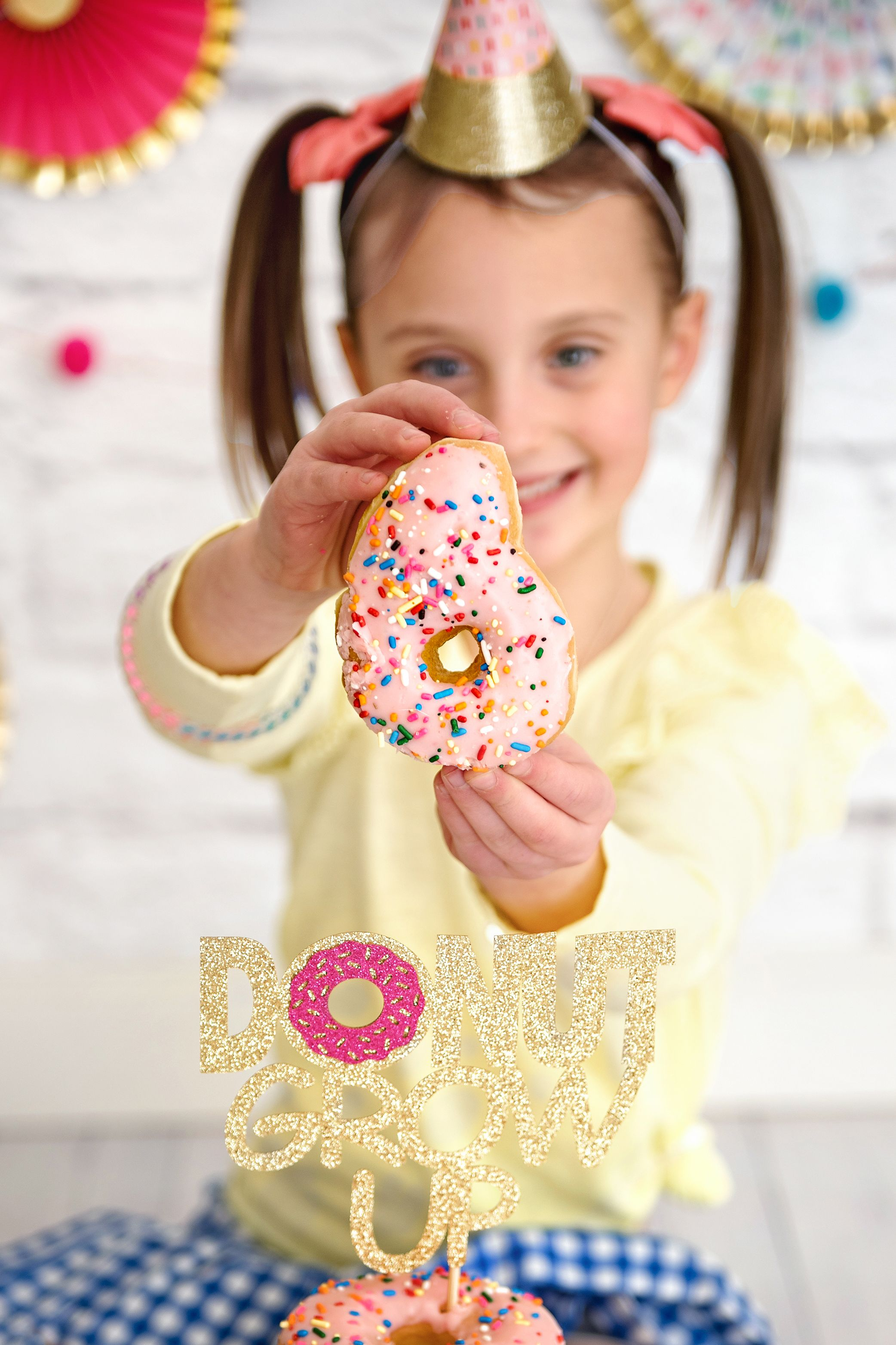 Donut Grow Up Party Donut Birthday Smash Cake Donut Party