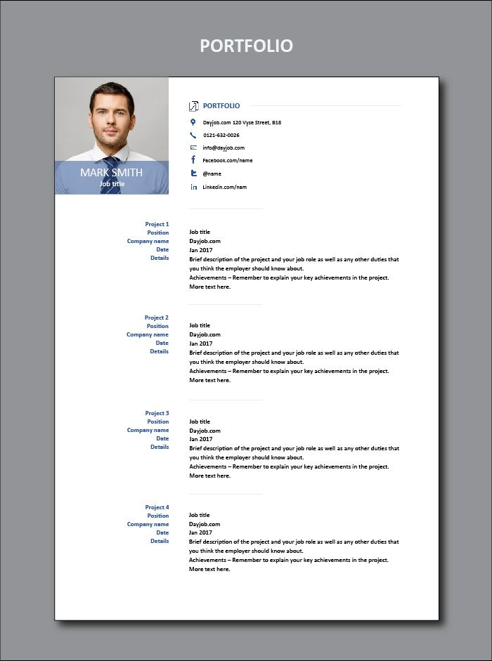 How To Write Out A Resume Mesmerizing This Shows You How To Write Out Your Portfolio For A Professional .