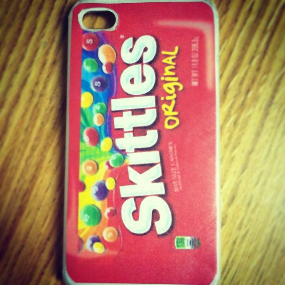 Diy skittles iphone case my artwork pinterest for Homemade iphone case