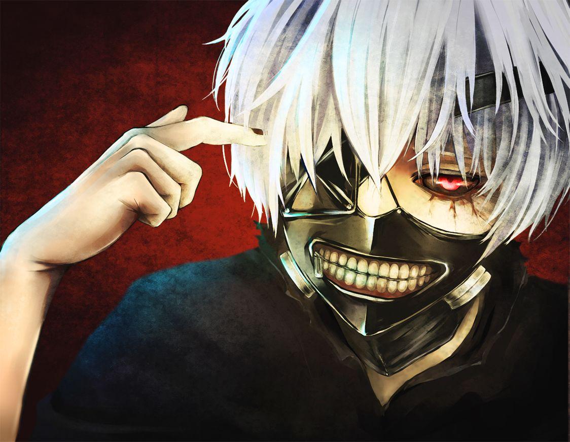 Tokyo Ghoul Kaneki Ken Mask White Hair Kaneki Badass