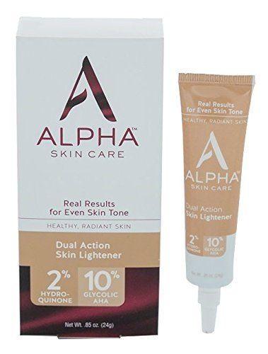 Alpha Skin Care Alpha Hydrox Dual Action Skin Lightner 2 Hydroquinone 10 Glycolic Aha 085 Oz Chec Skin Lightening Cream Skin Lightener Skin Bleaching Cream