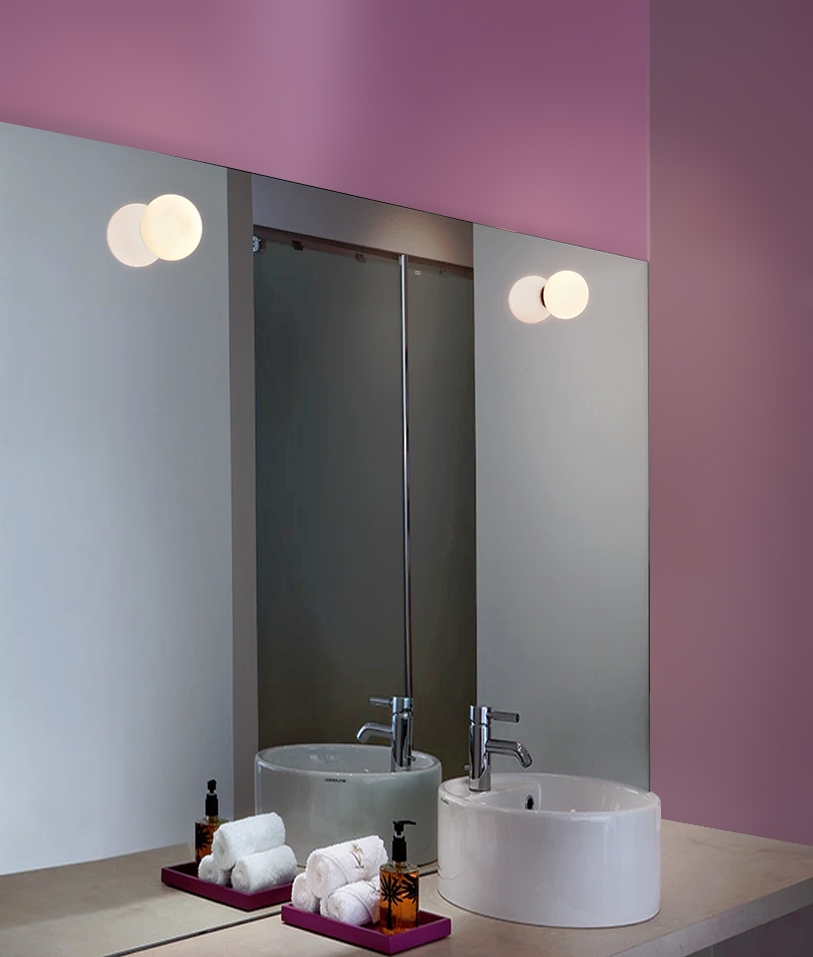 Mini Glo Ball By Flos For Ceiling Or Wall In 2020 Bathroom Wall Lights Flos Mini Glo Ball Bathroom Mirror Lights