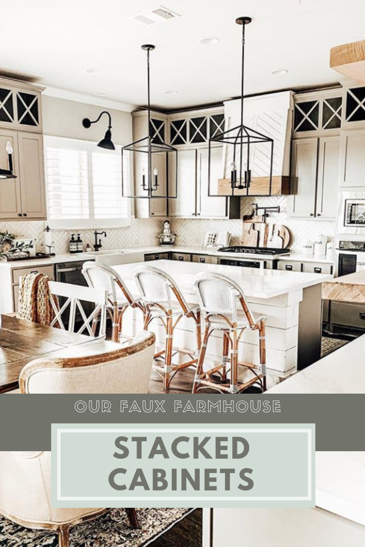 Stacked Kitchen Cabinets Cabinet Makeover Diy Diy Cabinets Cabinet Makeover