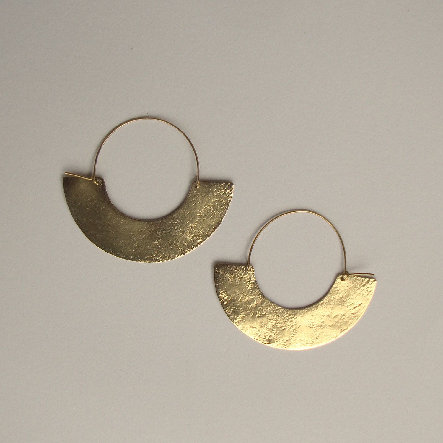 Hoop Earrings African Jewelry Ethnic Tribal Earring Minimalist By Havanaflamingo On Etsy