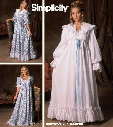 81d694a0a6 Simplicity 5188 SEWING PATTERN 18-24 Vintage Victorian Nightgown ...