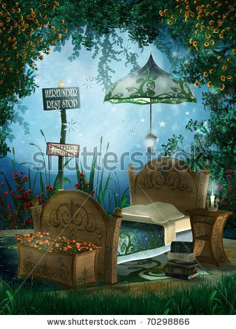 Google Image Result for http://image.shutterstock.com/display_pic_with_logo/472384/472384,1296480060,3/stock-photo-enchanted-garden-with-children-s-bedroom-70298866.jpg
