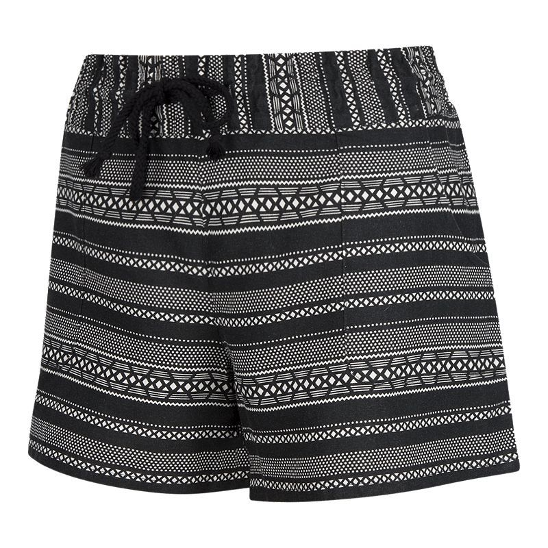 Ripzone Women's Printed Salty Beach Short Black print