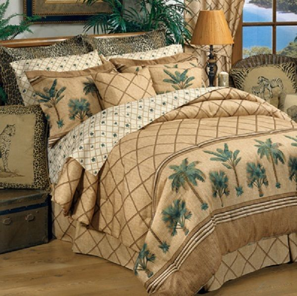 Details about Kona Palm Tree 4 Pc Full Size Comforter ...