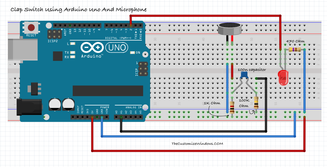 Clap Switch Using Arduino Uno And Microphone | Arduino and Circuit ...