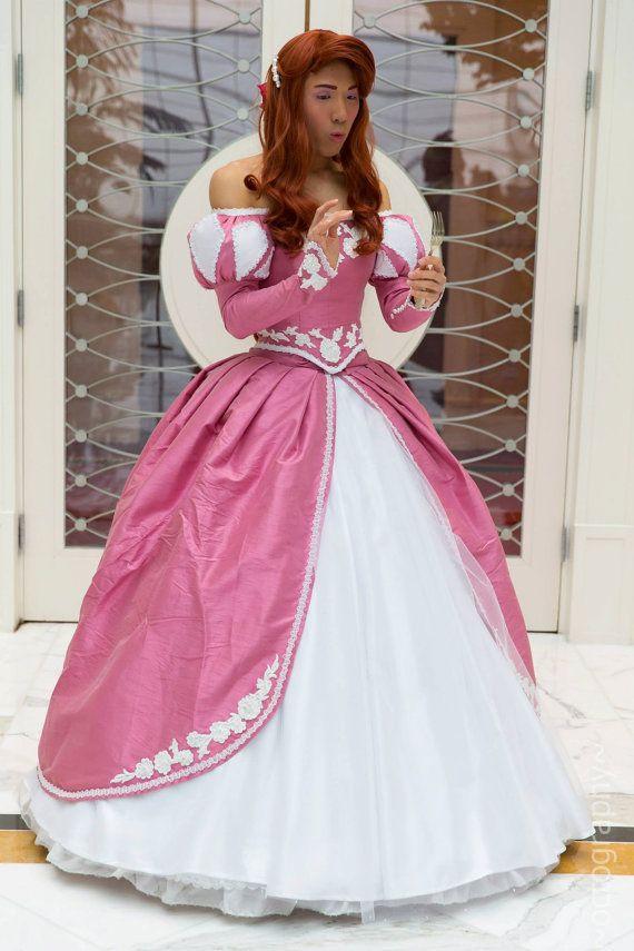 Princess Ariel Pink Ball Gown