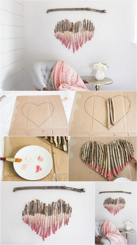 How to Make an Interesting Art Piece Using Tree Branches #kidsbedroomsandthings