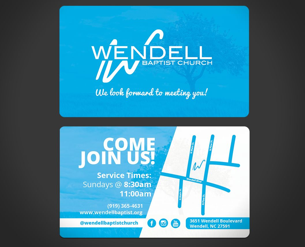 Wendell Baptist Church Invite Card