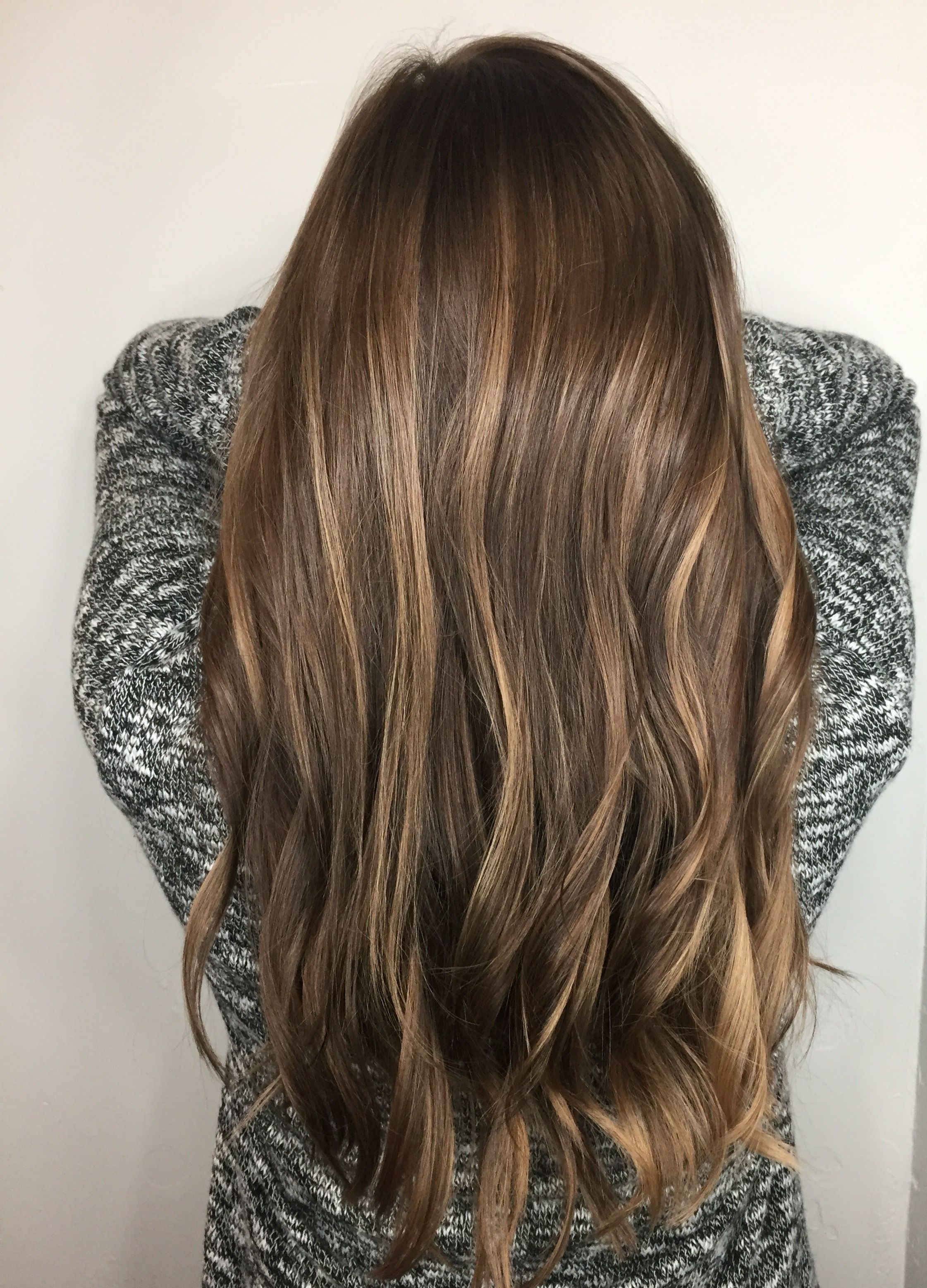 Reverse Balayage Blonde to Brunette Blended Sunkissed Hair