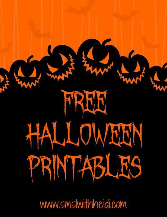 Free Halloween Printables #free #Halloween Double pins Pinterest - halloween backdrop