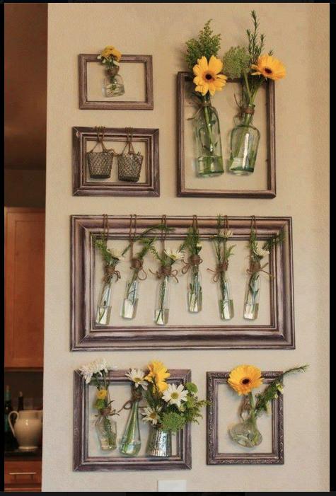 DIY picture frame garden