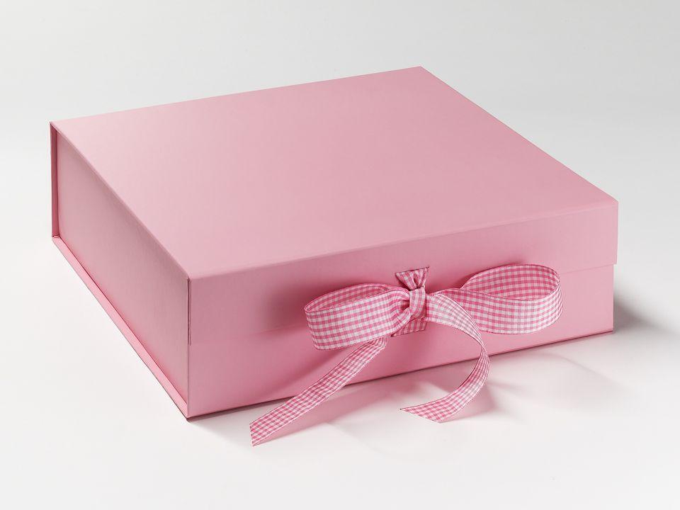 Baby pink gift box from foldabox wwwfoldaboxcouk