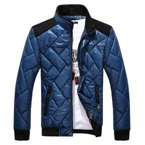 taille 40 d22c3 ef365 Blouson Veste Homme Matelasse a col Mandarin Fashion Classe ...