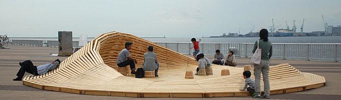 Crater Lake, installation (Kobe Biennale 2011), Kobe – Japan (2011). Arquitectura, 24° Studio. Fotografías, contemporist.com