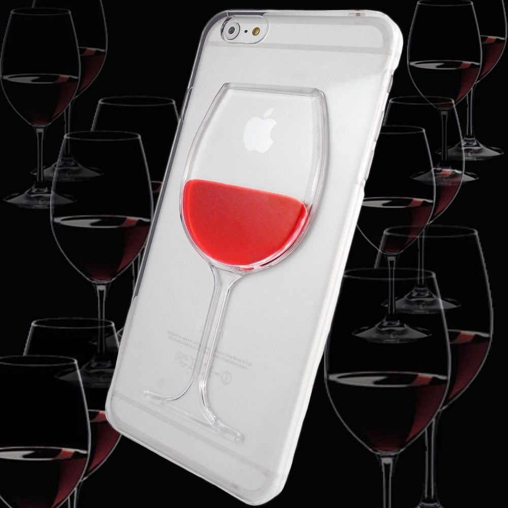 3d Wine Glass Goblet Case For Apple Iphone 6 Clear Thin Silicone Gel Cover Unbrandedgeneric Fundas Para Ipad Manualidades En Casa Manualidades