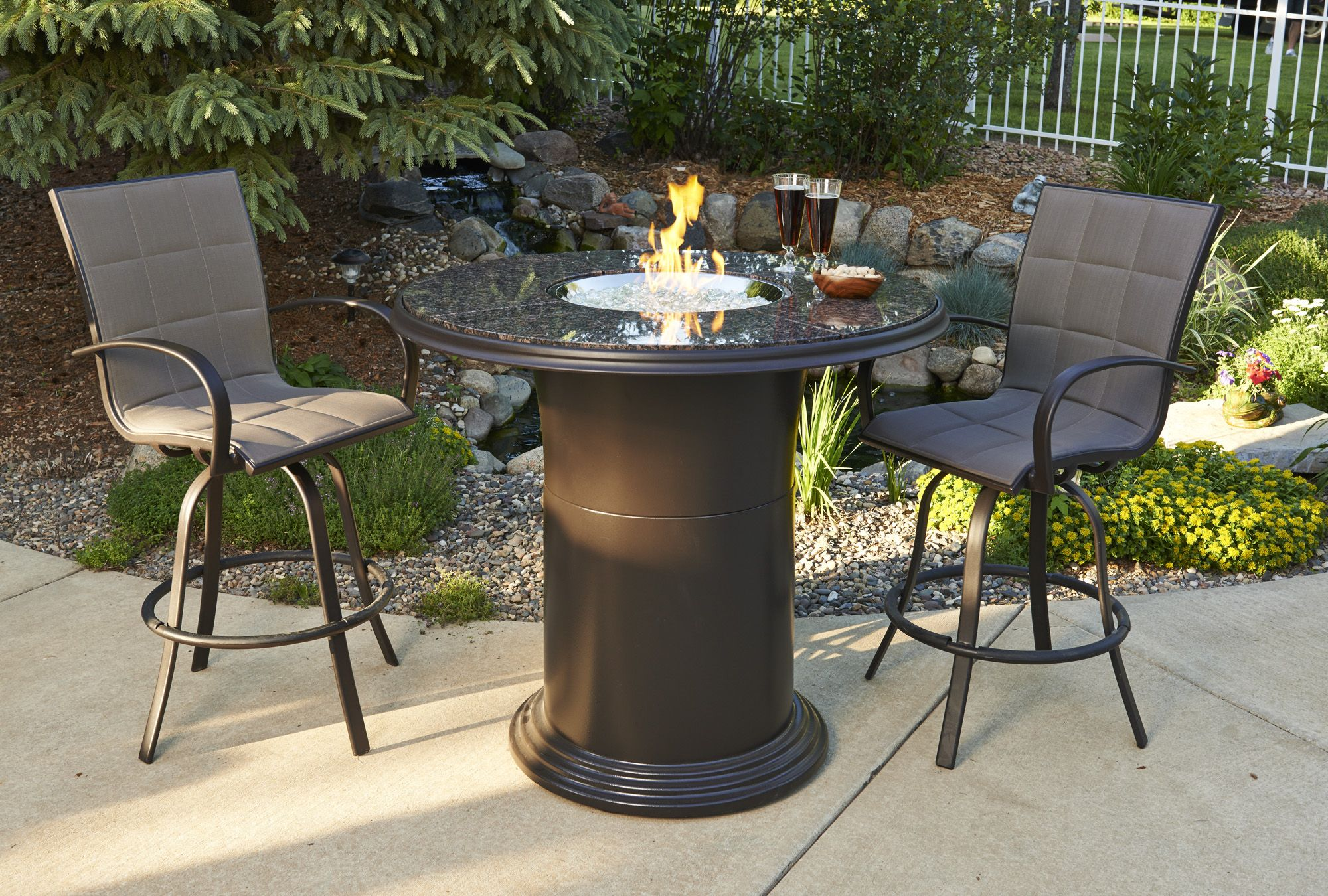 Pub Height Fire Pit Table So Cool Outdoor Furniture And Patio - Pub height fire pit table