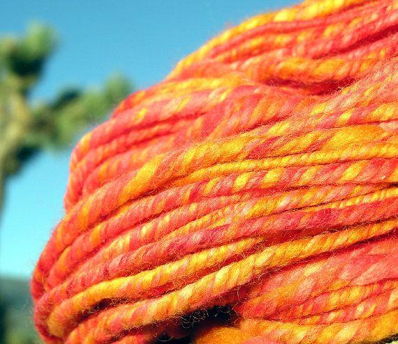 Rock N Roll - Hand Spun Alpaca, Merino, and BFL Wool - 55 Yards - Bulky Yarn