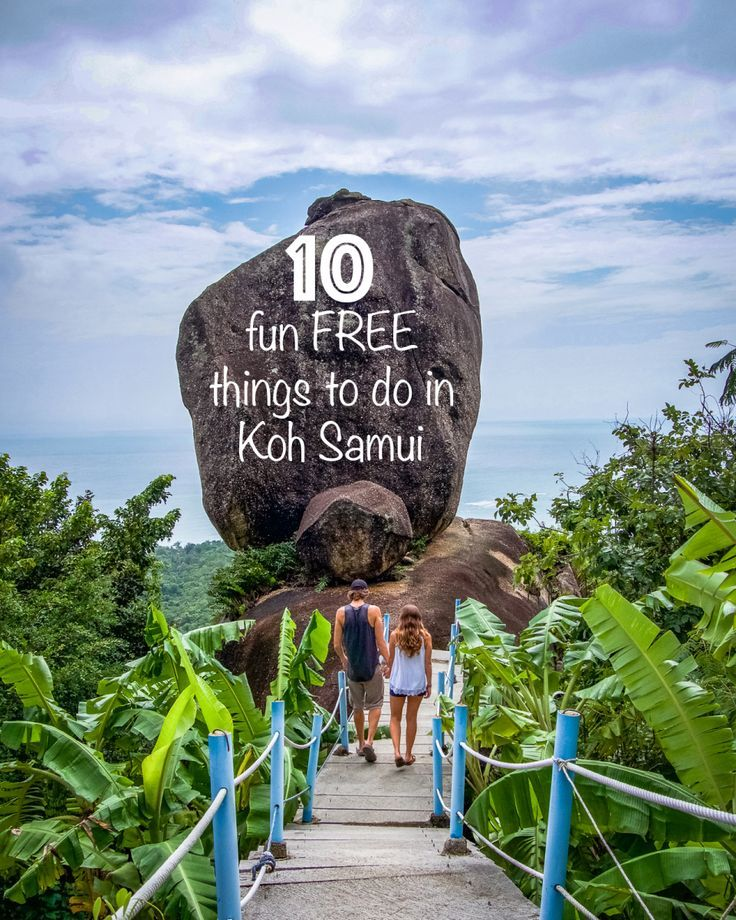 10 fun FREE things to do in Koh Samui, Thailand #backpackingthailand