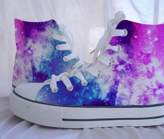 fe22a8737e1b Custom Converse Galaxy Converse Sneakers by Kingmaxpaints on Etsy