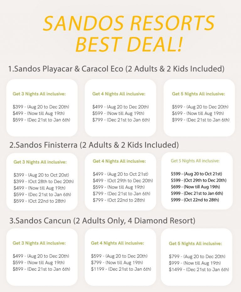 One Of The Top All Inclusive Timeshare Presentation Deals