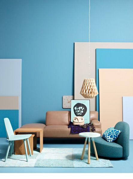 wohnen mit farben einrichten mit blau photoshoot pinterest farben blau und wohnen. Black Bedroom Furniture Sets. Home Design Ideas