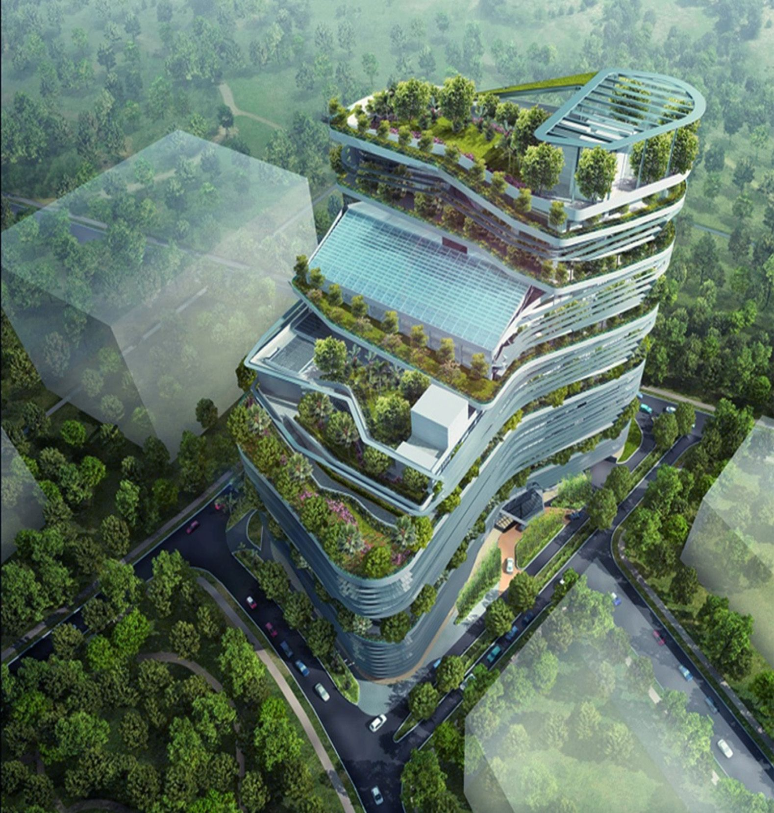 The third green building masterplan macdonald and for Green design
