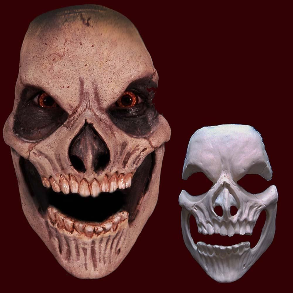 Bones Skull Skeleton Grim Reaper Scary Halloween Costume Makeup Latex Prosthetic