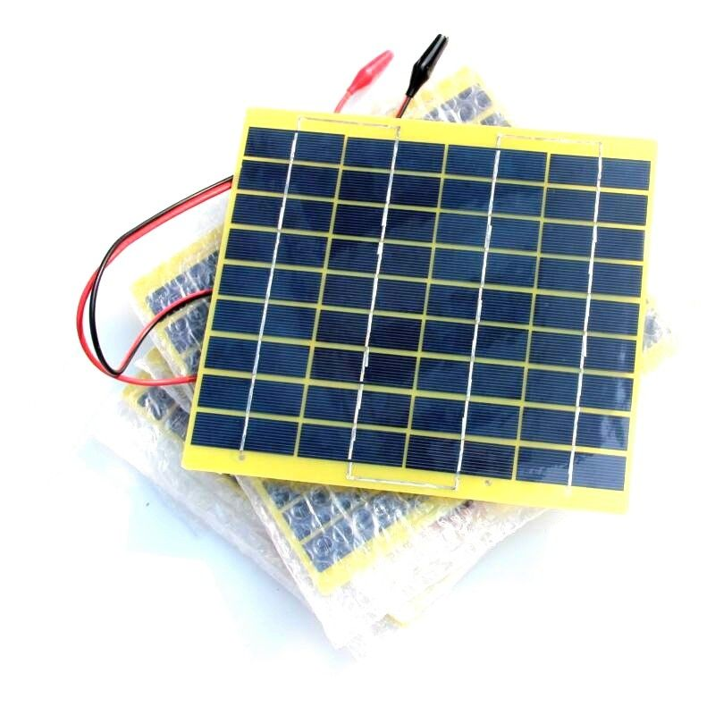 Buheshui High Quality 5w 18v Small Pet Solar Panel With Crocodile Clip For 12v Battery Polycrystalline Outdoor Travel Travel Buy Small Pets Buy Solar Panels