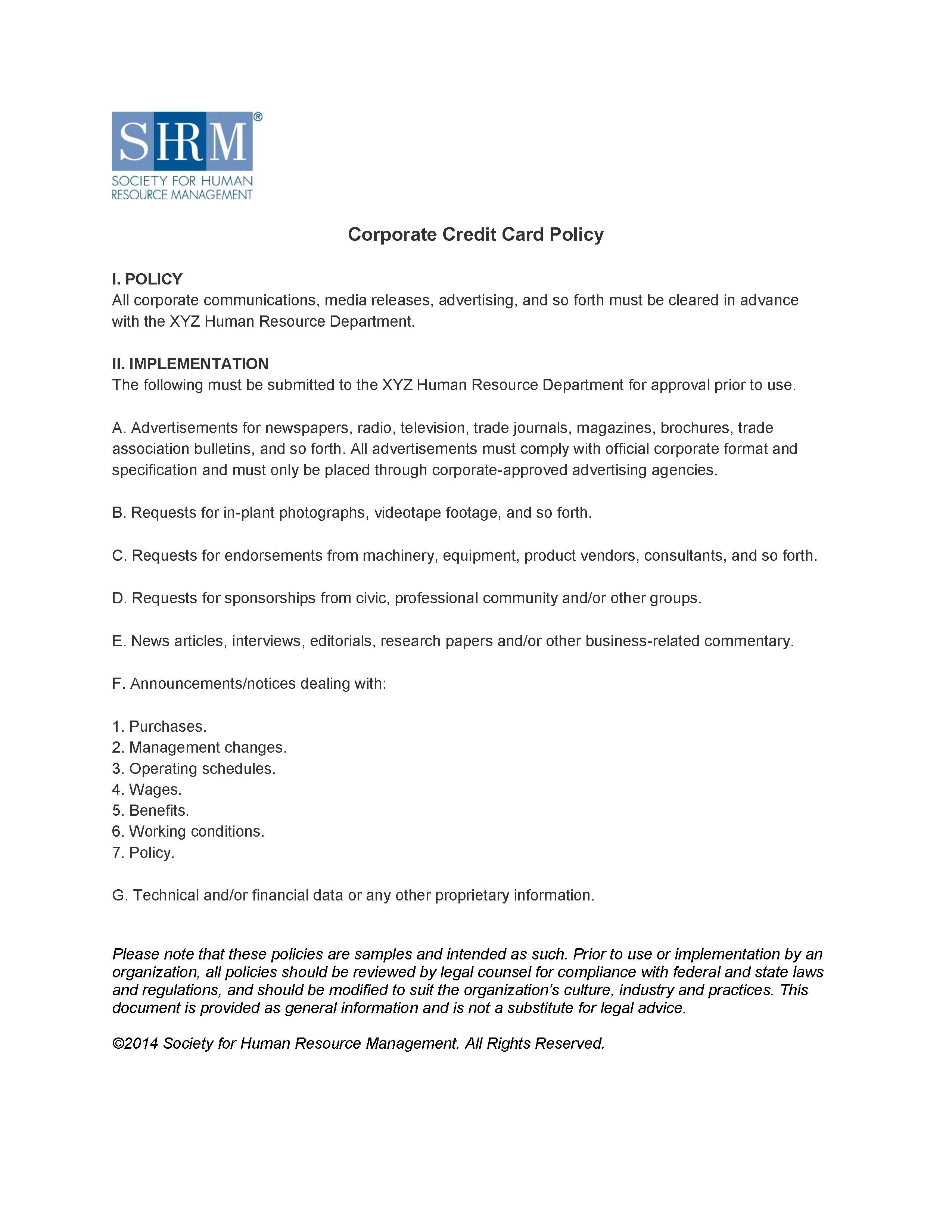 Corporate Credit Card Policy Alexander Street A Proquest For Company Credit Card Policy Template Corporate Credit Card Credit Card Companies Policy Template