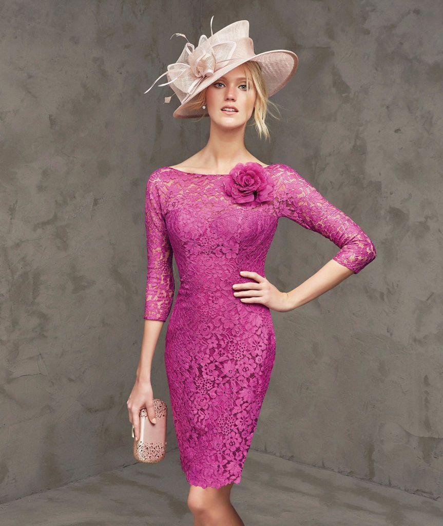 vestidos-coctel-boda-2016-fucsia.jpg (863×1024) | Modas Chavely ...