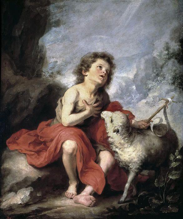 St. John The Baptist As A Child Bartolome Esteban Murillo