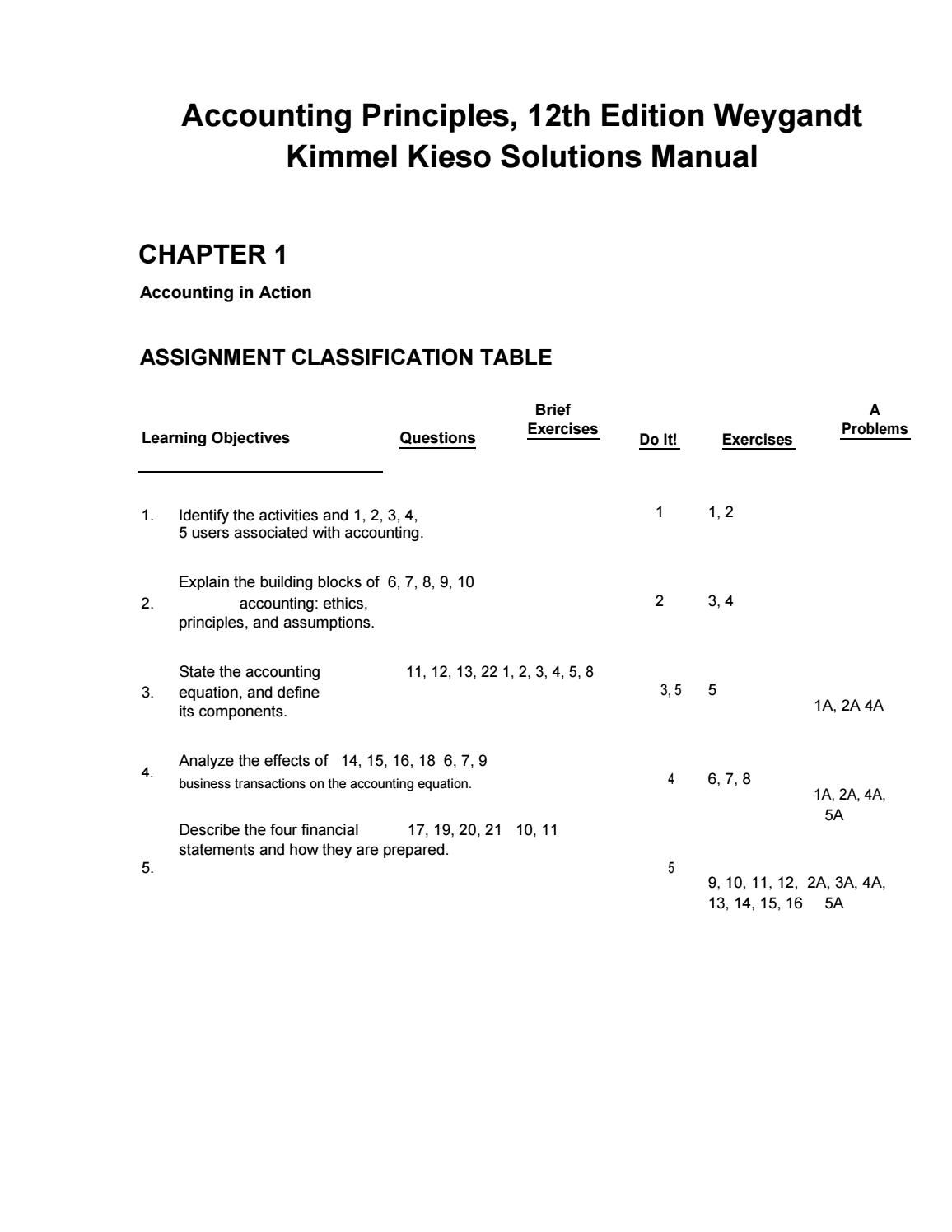 Download pdf accounting principles 12th edition weygandt kimmel kieso solutions  manual Accounting Principles, Manual,