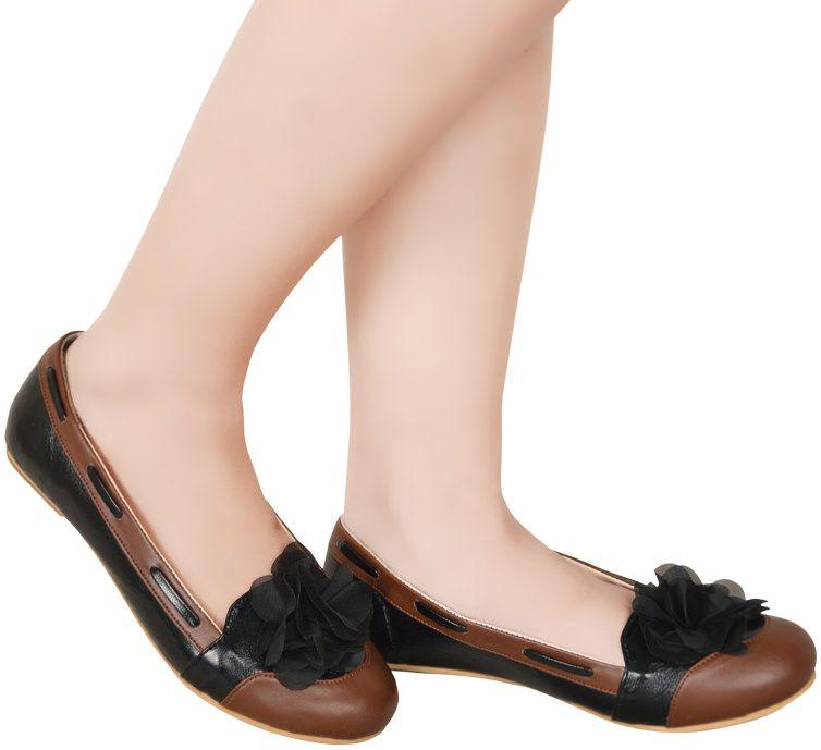 Toko Online Fashion Wanita Jual Beli Sepatu Flat Rasya Coklat