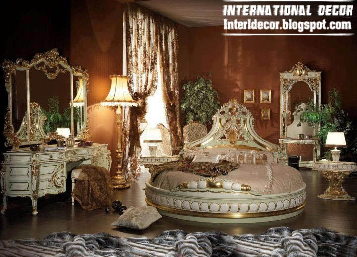 royal bedrooms with round bed 2015 , luxury bedroom furniture ...