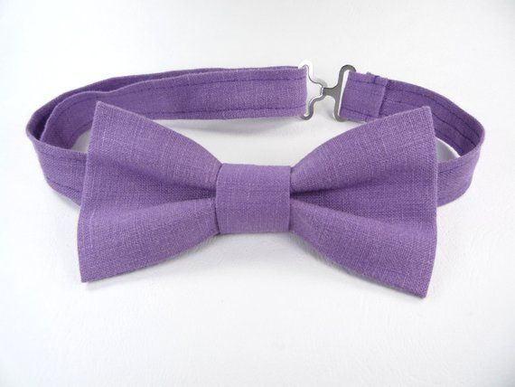 40f6d890945e Purple bow tie for wedding, Purple bow tie for groomsmen, Bow Tie for Men,  Children's Bow Tie, boys