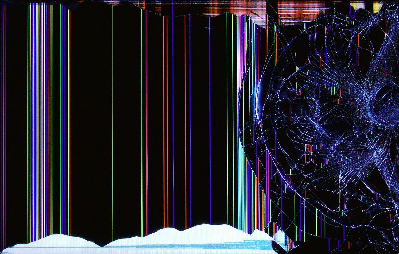 Broken lcd wallpaper broken screen monitor picture