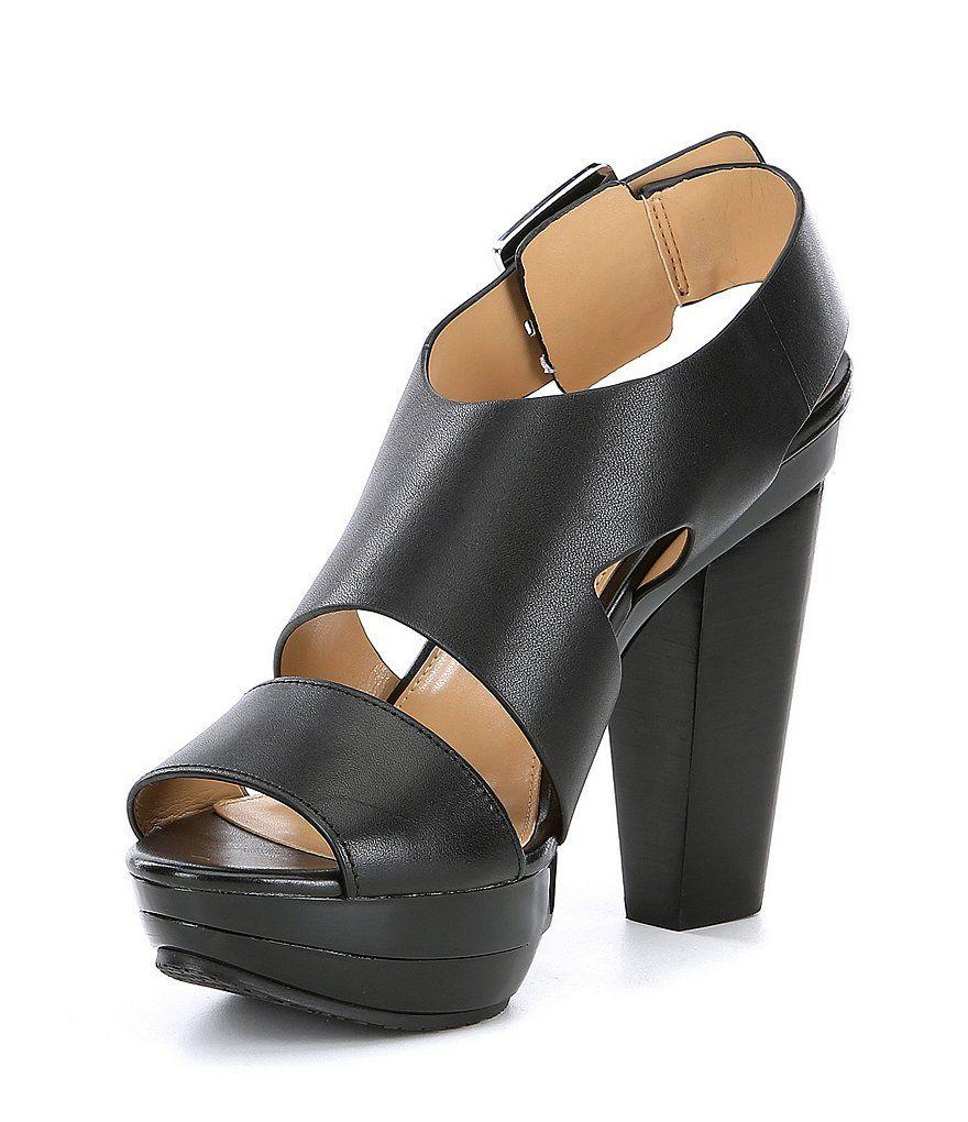 6b38a25912ba MICHAEL Michael Kors Carla Vachetta Leather Platform Sandals in 2019 ...