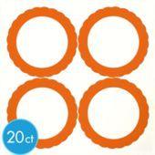 Orange Favor Sticker Labels 20ct - Party City