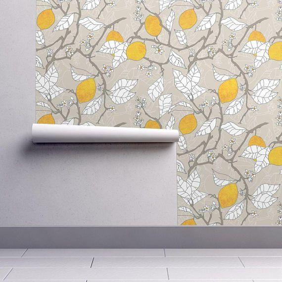 Lemon Wallpaper, Peel and Stick Wallpaper for Walls
