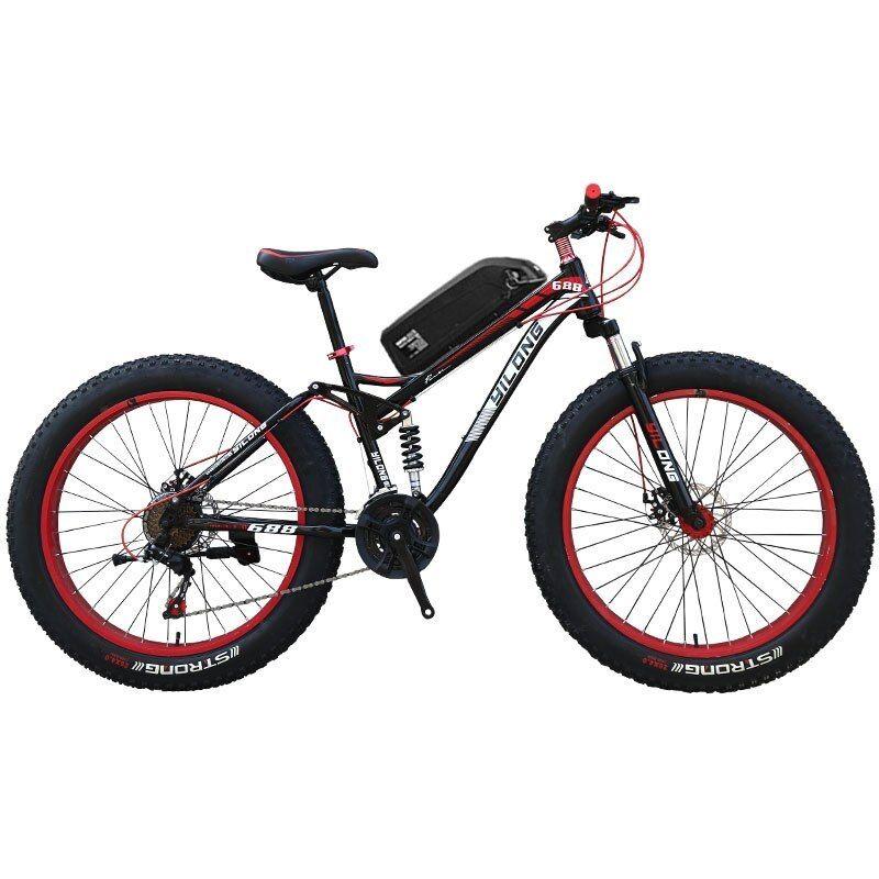 Hrtc 26 Inch Full Suspension Mountain E Bike Powerful Electric Bike Mtb 27 Speed Inch Full Suspension Mountain E Bike E Electric Bike Electric Bike Diy Ebike